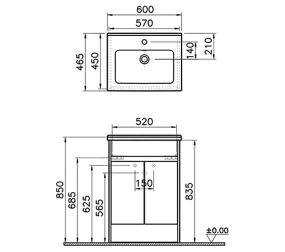 Technical drawing QS-V17596 / 52981
