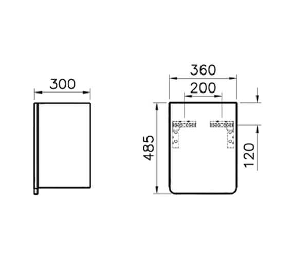 Technical drawing QS-V87197 / 58153