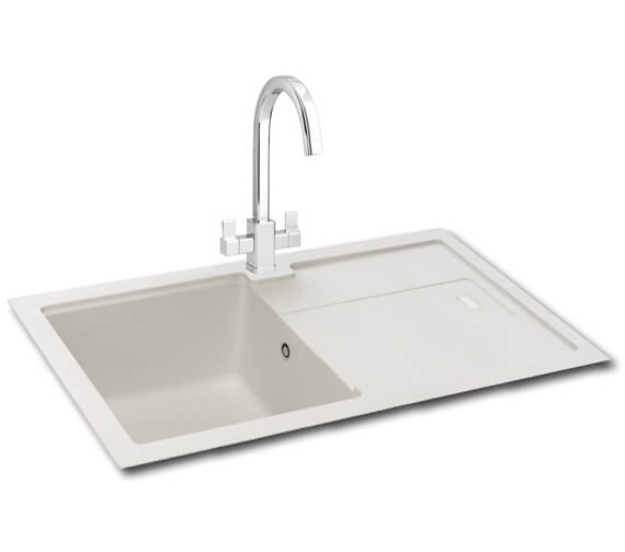 Carron Phoenix Bali 100 Polar White 1.0 Bowl Kitchen Sink