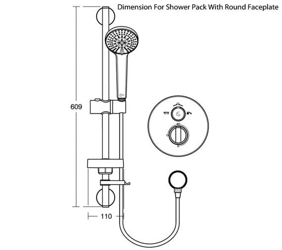 Additional image of Ideal Standard Concept Easybox Slim Built-In Shower Pack With Square Faceplate