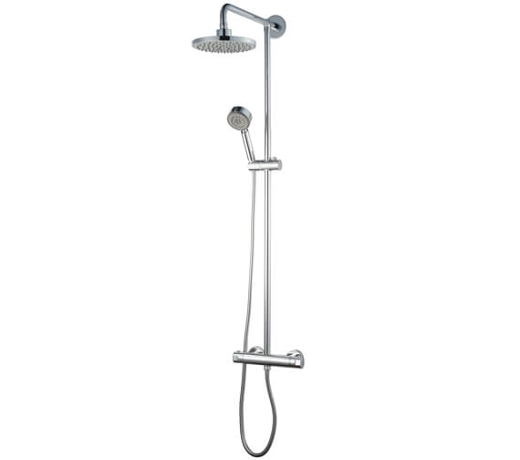 Aqualux Haceka Pro 2000 Polished Silver Shower Set