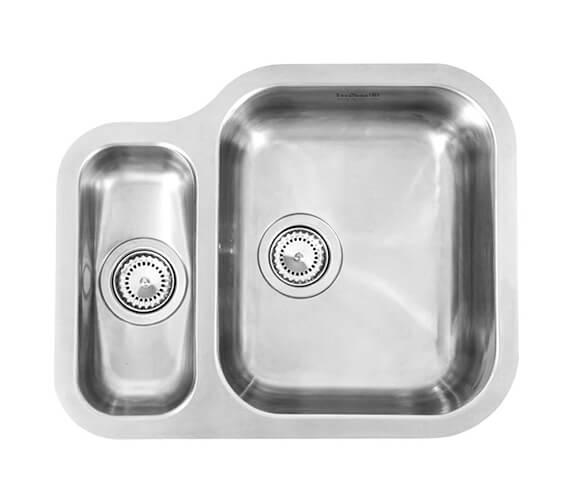 Additional image of Reginox Alaska 577 x 470mm Stainless Steel 1.5 Bowl Undermount Kitchen Sink - Left Hand Main Bowl
