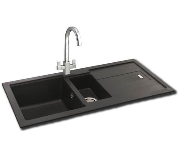 Carron Phoenix Bali 150 Jet Black 1.5 Bowl Kitchen Sink