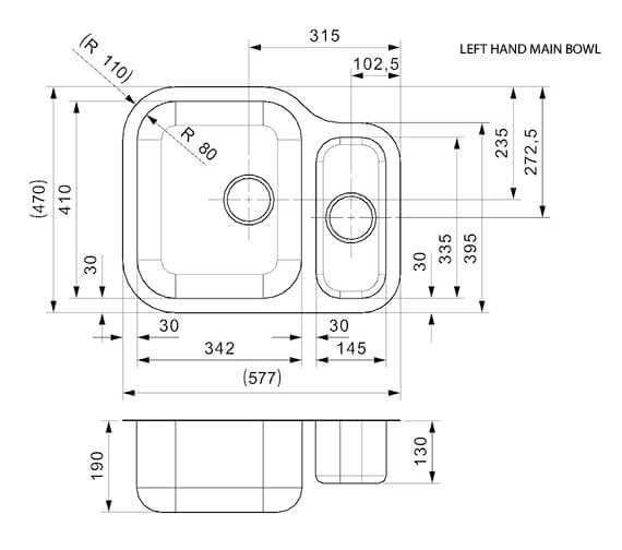 Technical drawing QS-V94062 / ALASKA MBL