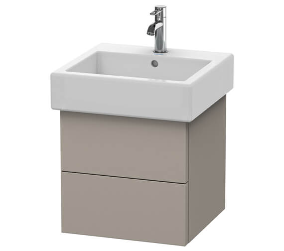 Additional image of Duravit Delos 450 x 445mm Chestnut Dark 2 Drawer Vanity Unit With Basin