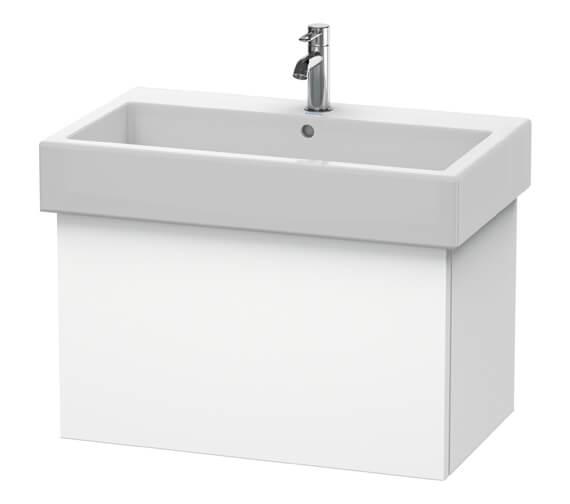 Duravit Delos 750 x 445mm White Matt Vanity Unit With Basin