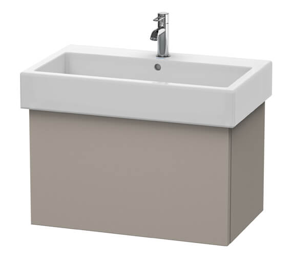 Additional image of Duravit Delos 750 x 445mm White Matt Vanity Unit With Basin