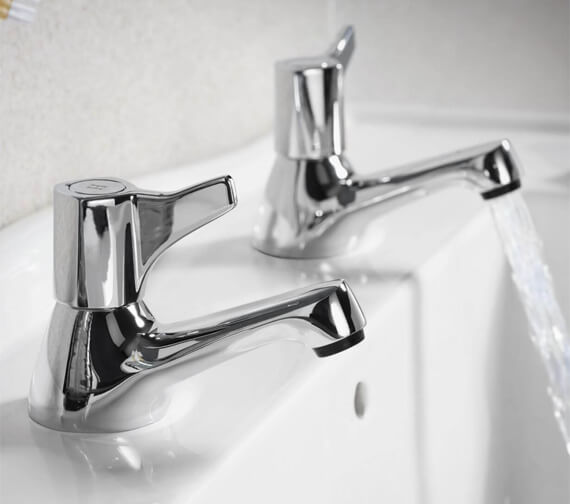 Triton Exe Pair Of Basin Taps With Knob Handle