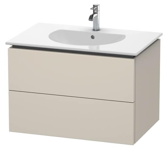 Alternate image of Duravit Delos 800 x 541mm White Matt 2 Drawers Vanity Unit With Basin