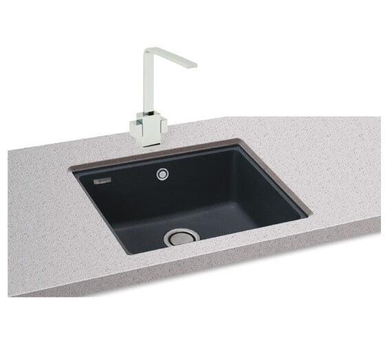 Carron Phoenix Fiji 100 Jet Black 1.0 Bowl Undermount Sink
