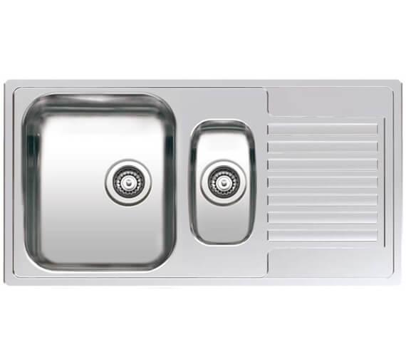 Reginox Centurio 1.5 Bowl Reversible Stainless Steel Inset Sink 950 x 500mm