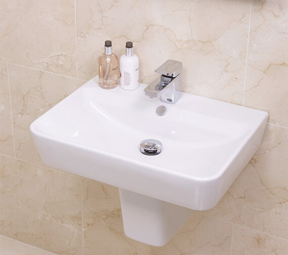 Saneux Project 500mm Wide 1 Tap Hole Washbasin