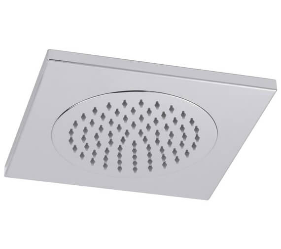 Additional image of Hudson Reed Chrome Square Ceiling Tile Fixed Shower Head