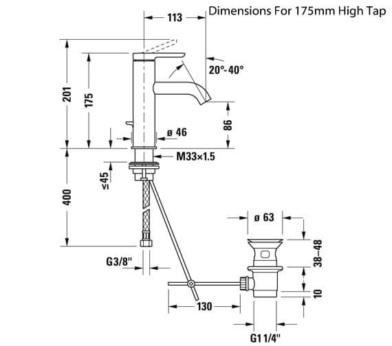 Technical drawing QS-V82620 / C11010002010