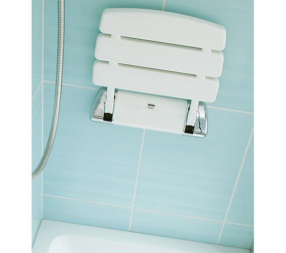 Additional image of Mira Wall Mounted Folding Shower Seat White