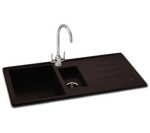 Carron Phoenix Debut 150 Jet Black 1.5 Bowl Inset Kitchen Sink