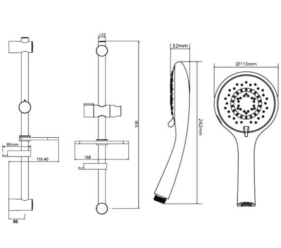 Technical drawing QS-V29270 / TSKFAD28000WC