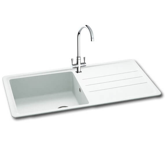 Carron Phoenix Janus 100 Arctic White 1.0 Bowl Inset Kitchen Sink