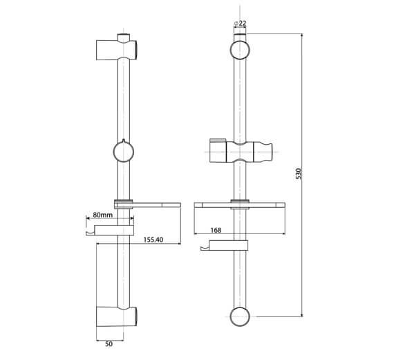 Technical drawing QS-V29072 / TSKADAM2WC