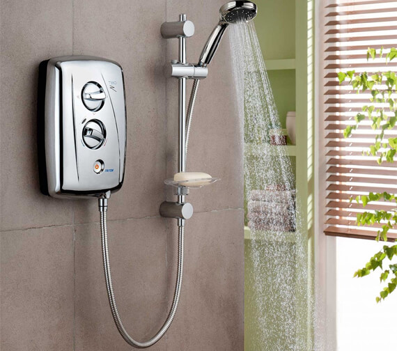 Alternate image of Triton T80Z Fast Fit White And Chrome Electric Shower 8.5KW - SP8008ZFF