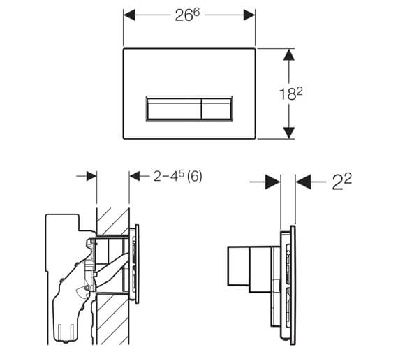 Technical drawing QS-V16023 / 115.600.SI.1
