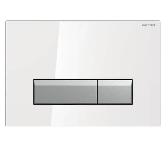 Geberit Sigma40 Glass Dual Flush Plate With Odour Extraction