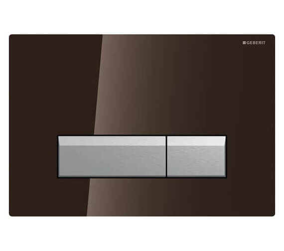 Additional image of Geberit Sigma40 Glass Dual Flush Plate With Odour Extraction