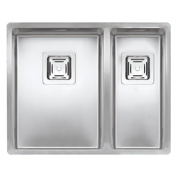 Reginox Texas 553 x 440mm 1.5 Bowl Stainless Steel Integrated Kitchen Sink