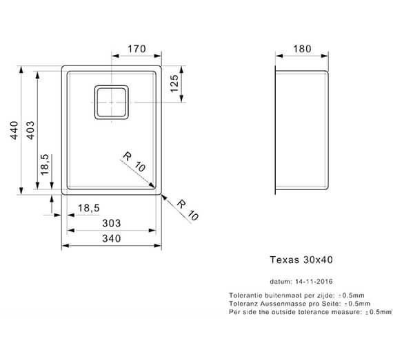 Additional image for QS-V99002 Reginox Sinks - TEXAS 18X40 L