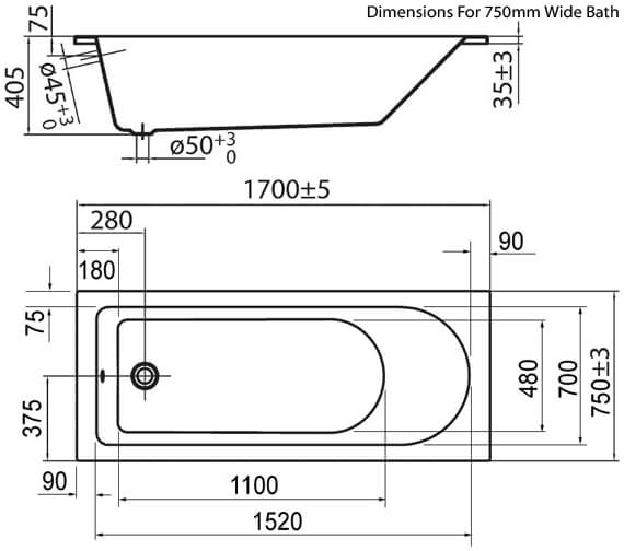 Technical drawing QS-V72259 / PBSE17X7