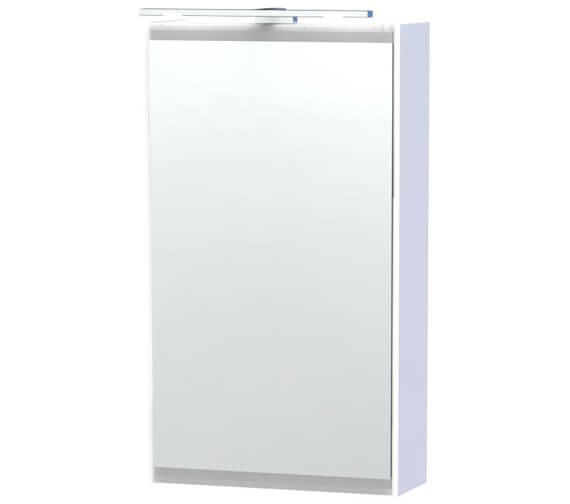Miller London 40 White Single Door Mirror Cabinet 404 x 700mm
