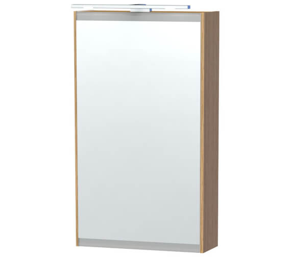 Additional image of Miller London 40 White Single Door Mirror Cabinet 404 x 700mm