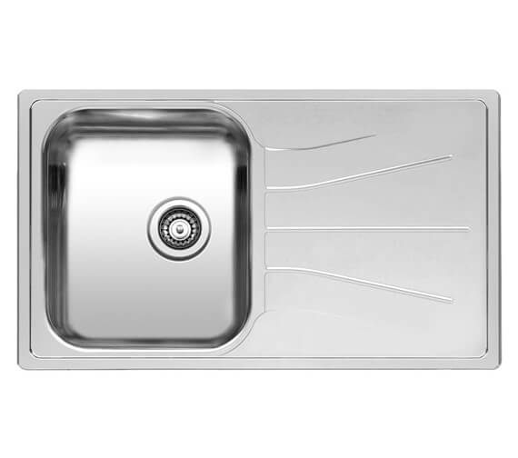 Reginox Diplomat 10 Eco Single Bowl Stainless Steel Inset Sink 860 x 500mm