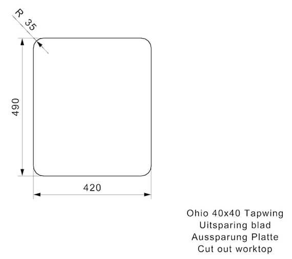 Additional image of Reginox Sinks  OHIO 40X40 TW