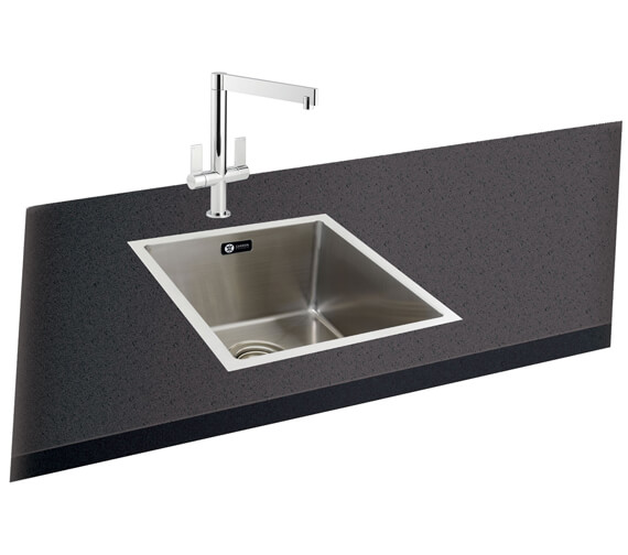 Carron Phoenix Deca 100 Polished 1.0 Bowl Kitchen Sink