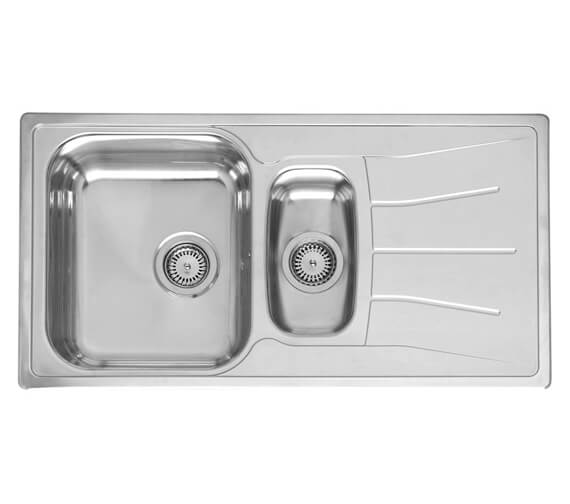 Reginox Diplomat Eco 1.5 Bowl Stainless Steel Inset Sink 950 x 500mm