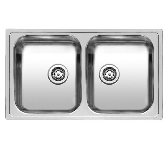 Reginox Diplomat 20 Stainless Steel 2.0 Bowl Inset Sink 860 x 500mm