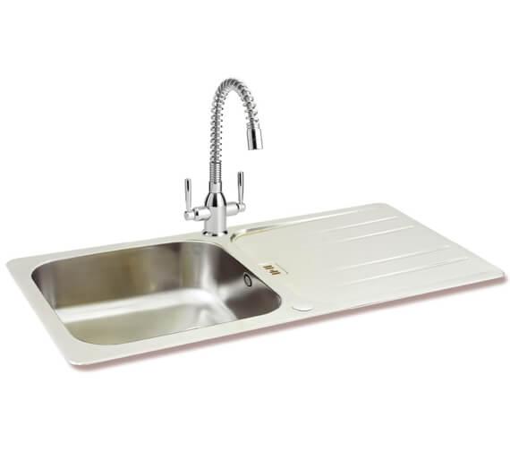 Carron Phoenix Cuba 100 Polished 1.0 Bowl Inset Kitchen Sink