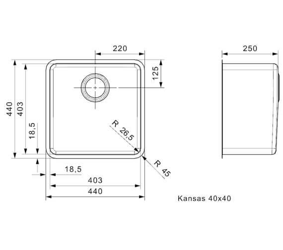 Additional image for QS-V94095 Reginox Sinks - KANSAS 18X40 L
