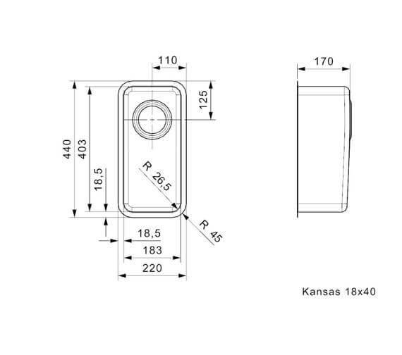 Technical drawing QS-V94095 / KANSAS 18X40 L