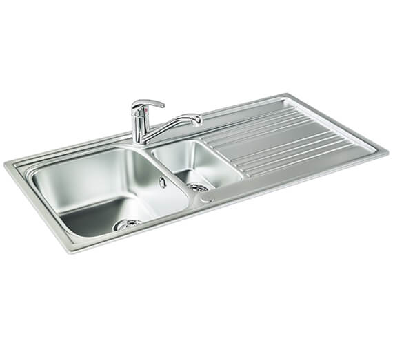 Carron Phoenix Rapid 150 Polished 1.5 Bowl Inset Kitchen Sink