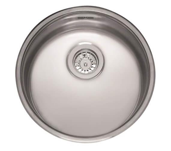 Reginox L18 Series 440mm Round Single Bowl Stainless Steel Integrated Sink