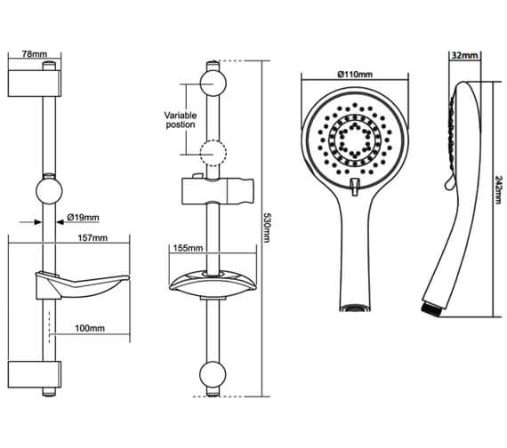 Technical drawing QS-V29279 / TSKFLEW8000WC
