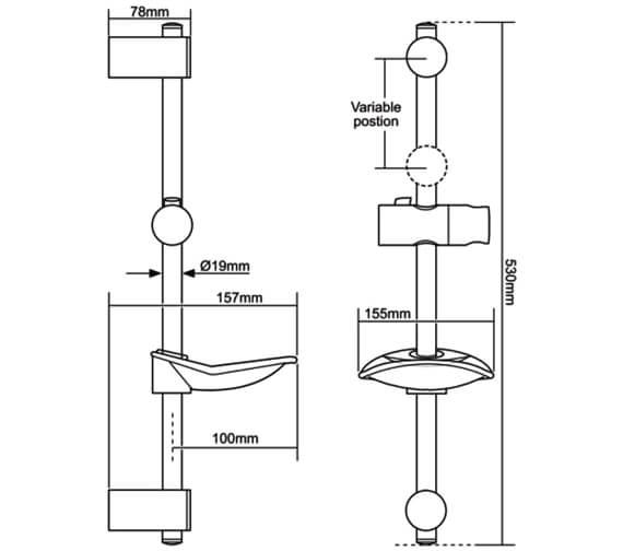 Technical drawing QS-V29267 / TSKLEWWC