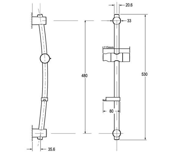 Technical drawing QS-V29075 / TSKLUCAWC