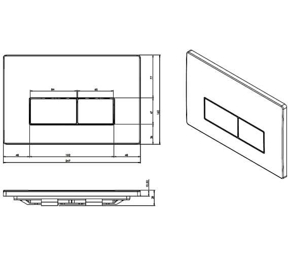 Technical drawing QS-V80985 / FP120