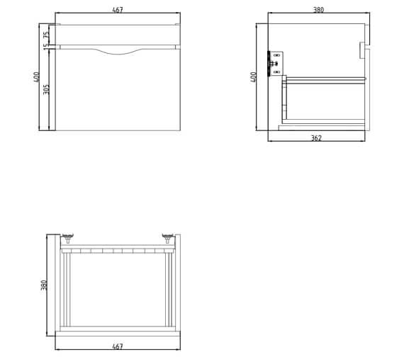Technical drawing QS-V29639 / 700110