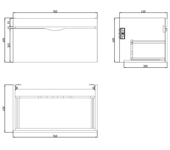 Technical drawing QS-V80980 / 700112