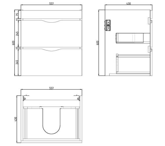 Technical drawing QS-V29641 / 700121