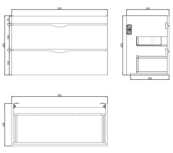 Technical drawing QS-V29645 / 700123